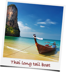 Thai long tail boat